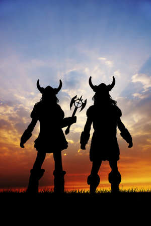 viking silhouette photo