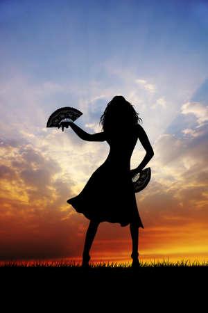 Woman dancing flamenco photo