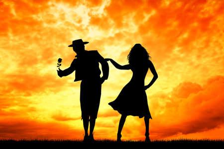 couple dancing flamenco photo