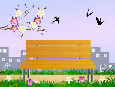 swallows in spring photo