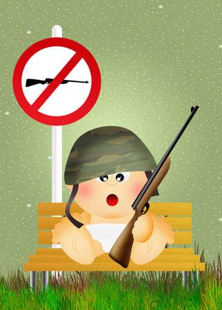 guerrilla: child hunting Stock Photo