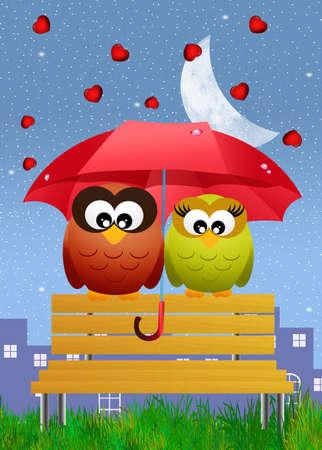 Rain of hearts Stock Photo - 26457491