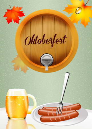 spume: Oktoberfest beer and sausages