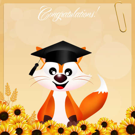 red fox graduate photo