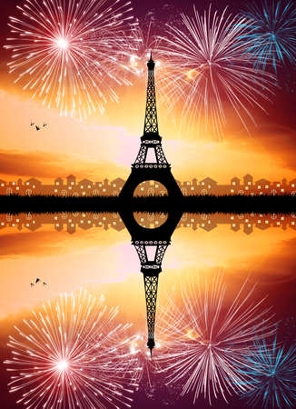 New Year in Paris photo
