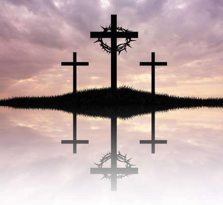 crucifiction: Three cross