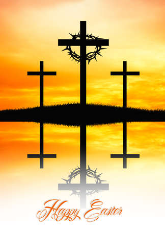 crucifiction: Easter postcard