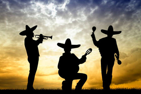mariachi at sunset photo