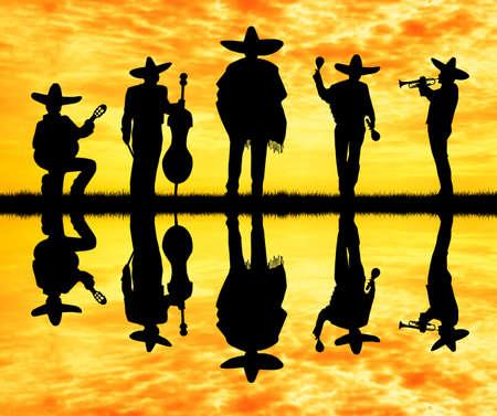 mariachi band Banque d'images