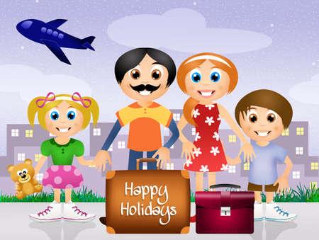 paternity: happy holidays Stock Photo