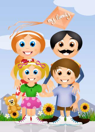 paternity: My family Stock Photo