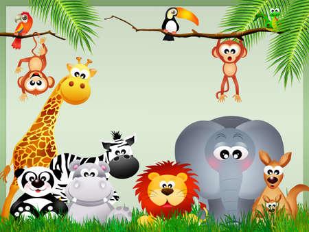 jungle animals Stock Photo