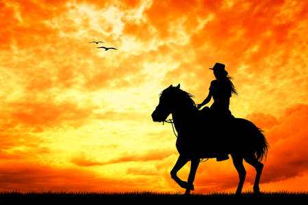 girl on horseback photo