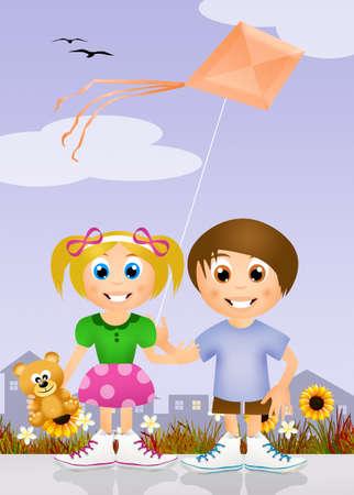 paternity: friend with kite