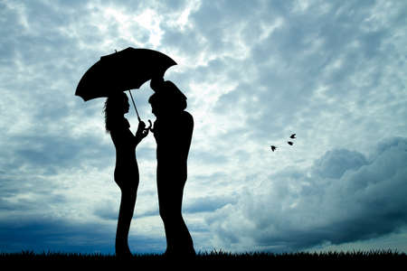 couple in the rain photo