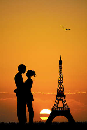 propose: lovers in Paris