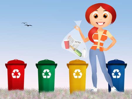 illustration of recycle illustration