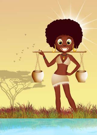 afro girl: Afro girl