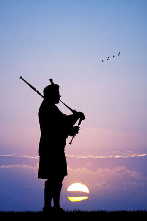 piper: Pipers at sunset