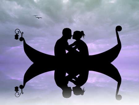 couple in gondola photo