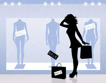 go shopping: woman go shopping Stock Photo
