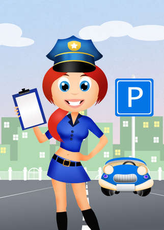 traffic warden: police woman
