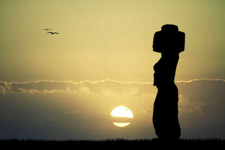 moai: Easter Island Stock Photo