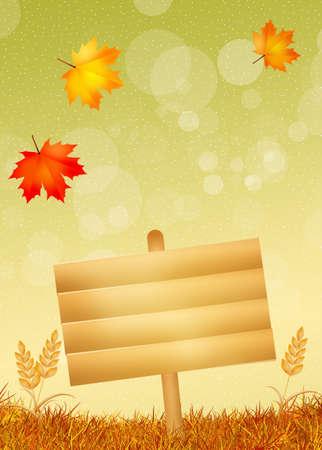 autumn sign photo