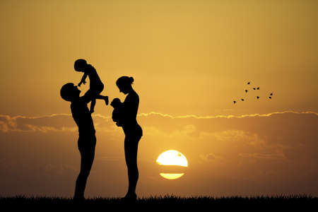 paternity: family with babies
