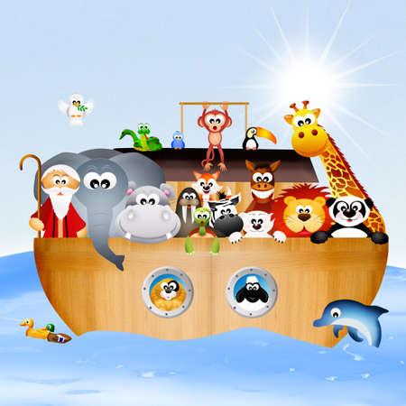 illustration of Noahs ark illustration