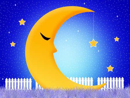 sleeps: the moon sleeps