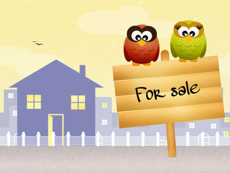owned: home for sale Stock Photo