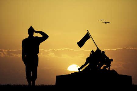 valor: War memorial Stock Photo