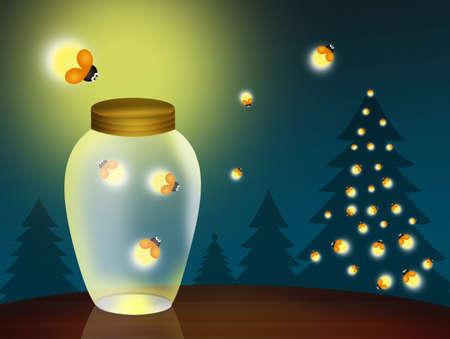 fireflies at Christmas photo