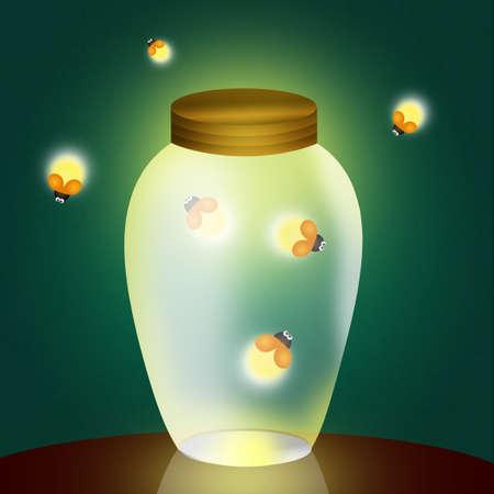 fireflies in the jar photo