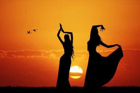 Bailarín de la mujer asiática