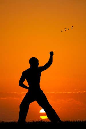 resistence: judo at sunset