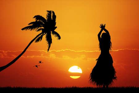 ハワイアン ダンス 写真素材 - 29184160