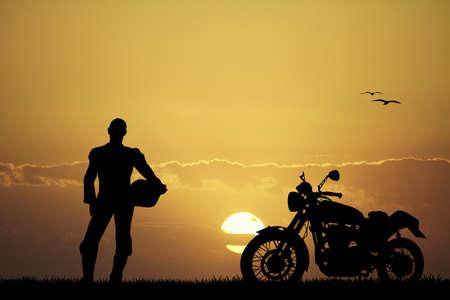 hombre motociclista