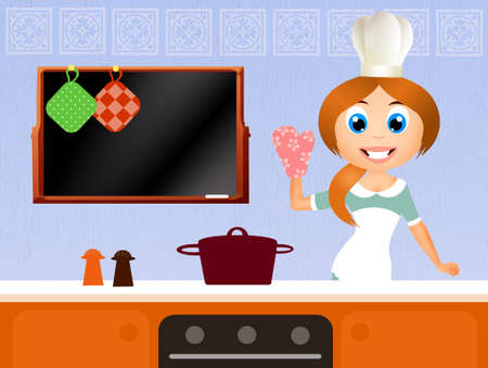 woman in the kitchen photo