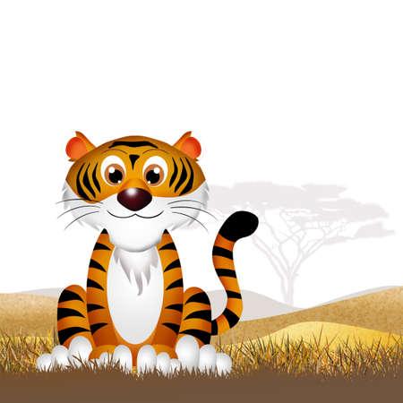 tigre caricatura: Caricatura de tigre