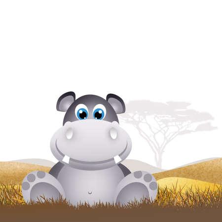 hipopotamo caricatura: Hipop�tamo de dibujos animados