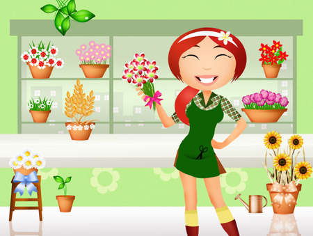 florist: Florist cartoon