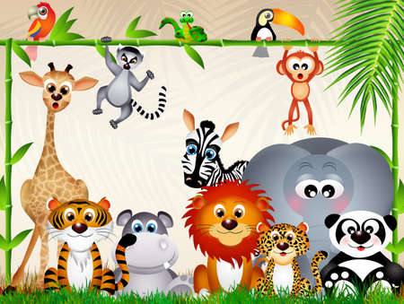 zoo animals: zoo animals Stock Photo