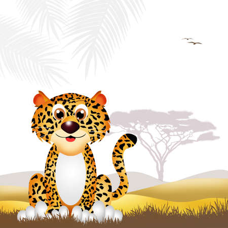Leopard cartoon photo