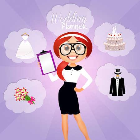 pastel de bodas: Planificador de la boda Foto de archivo