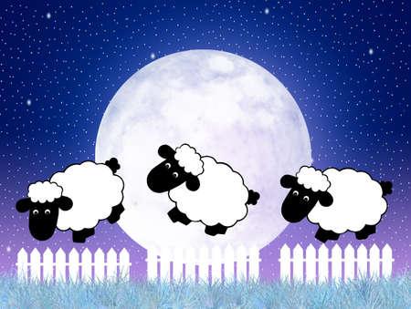 estrella caricatura: Contando ovejas Foto de archivo