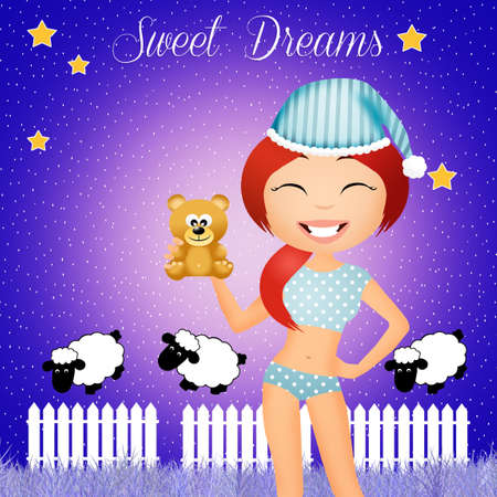 sleepover: sweet dreams Stock Photo