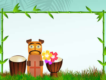 bongos: Totem and bongos Stock Photo