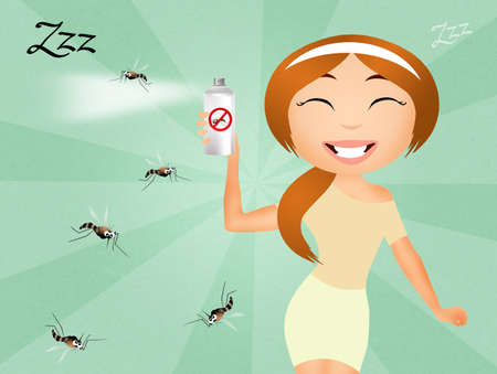 bothersome: Mosquito spray